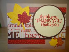 Handmade thank you card with envelope by TheBusyBeeCardBox on Etsy