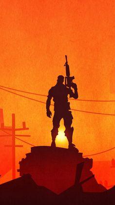 Fortnite, silhouette, video game, soldier, 720x1280 wallpaper