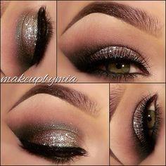 Smokey glitter eyeshadow!