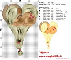 Apple Jack heart cross stitch pattern (click to view)