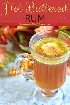 Christmas in a cup is the only way to describe the classic hot buttered rum drink. It's perfect for your holiday gathering as it's easy to make ahead in the crockpot. Cocktail Desserts, Cocktail Recipes, Rum Recipes, Cooking Recipes, Party Recipes, Dark Rum Cocktails, Fun Cocktails, Hot Buttered Rum Batter