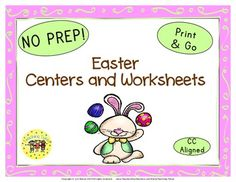 ADDED  an Easter Glyph  Plus, new images!  *********************************************************************  My Easter Packet contains:  Reading Center Book List Art Center Project Writing Center Activity Computer Center Websites Friday Activity  AND 9 worksheets.