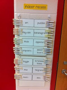 Great idea for indoor activities.  Limit how many children at each activity.  for example 3 pegs per activity