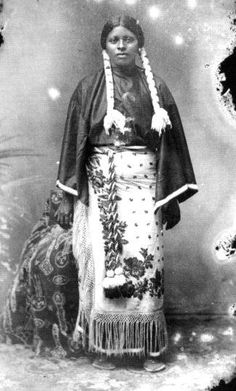 Diana Fletcher - Seminole/African/Kiowa - no date {Note: Diana Fletcher was the daughter of an African slave (who ran away to seek freedom in Florida), and a Seminole woman. It is said that enroute to Oklahoma Territory, Diana's mother died, and she was separated from her father. Once in Oklahoma, she was adopted and raised by a Kiowa family.}