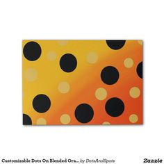Customizable Dots On Blended OrangeToYellow Post-it® Notes