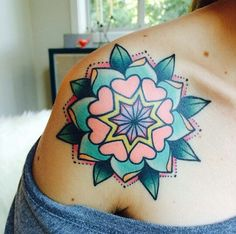 Tattoo by Alex Strangler — Dolorosa Tattoo in Studio City — Love her color work!
