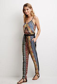 Tile Print Jumpsuit | LOVE21 | #f21contemporary