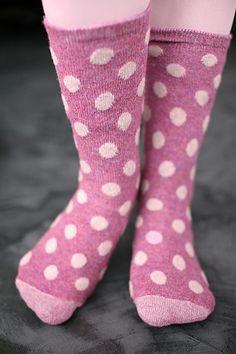 Socks By Sock Dreams » Socks » Bea Polka Dot Crew Socks