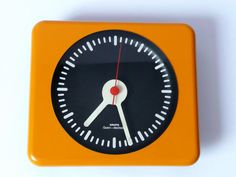 Original 1970s KRUPS Wall CLOCK Eames Panton Orange Space Age 60s Era