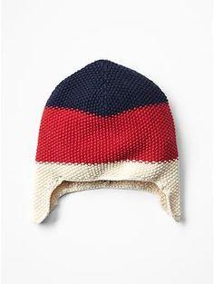 Americana stripe hat - inspiration - I love seed stitch!