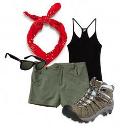 Ideas Summer Camping Outfits For Women Hiking Fashion Camping Outfits For Women Summer, Summer Camping Outfits, Vacation Outfits, Summer Outfits, Camping Clothes For Women, Hiking Clothes, Camp Outfits, Womens Hiking Outfits, Camping Clothing