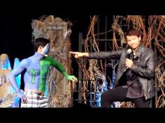 Misha checking out Osric's Abs - YouTube