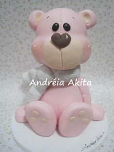 *SORRY, no information given as to product used ~ Urso Rosa para Mega Artesanal 2011 by Andreia Akita, via Flickr
