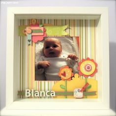 Sizzix.co.uk - Blogs - Elena Roche  What a cute frame!   (and of course the baby is cute too, bless)