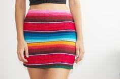 diy mexican rug skirt 13