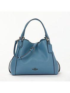 f4ac90978148 Coach Edie 28 Leather Shoulder Bag at John Lewis   Partners