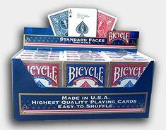Cartouche de 12 jeux BICYCLE (US playing cards company): Format poker : 88 x 63 mm. Qualité Pro (Bicycle) 12 Jeux de 54 cartes Cet article…