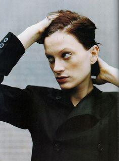 Glamour France November 1993  Model: Kristen McMenamy Ph: Juergen Teller Stylist: Carine Roitfeld