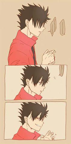 Image about cute in Haikyuu! Haikyuu Nekoma, Haikyuu Funny, Haikyuu Manga, Haikyuu Fanart, Kagehina, Manga Anime, Anime Art, Kenma, Kuroo Tetsurou Hot