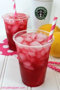 Copycat Starbucks Passion Tea Lemonade (2 Tazo Passion Tea Bags 16 oz Water 4 oz Lemonade 2 tsp sugar 1/8 tsp Vanilla)