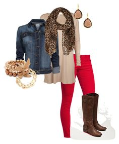 """Fall Photo Shoot"" by mrsnancyb ❤ liked on Polyvore featuring Old Navy, American Eagle Outfitters, Jack & Jones, MANGO, River Island, Principles by Ben de Lisi, Betty Jackson, skinny jeans, brown boots and denim jacket"