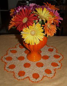 Pumpkin Patch  Doily Pattern. $3.95, via Etsy.