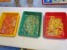 Exploring pumpkin seeds in the preschool classroom from Teach Preschool