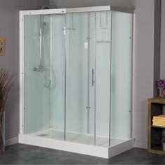 cabine de douche leroy merlin promo cabine de douche rectangulaire thalaglass 160x80 cm 2 thermo