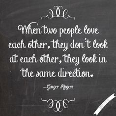 Yes, we are there for each other all the way. Looking in the same direction.