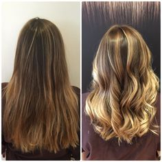 Balayage ombré beachy blonde surfer girl highlights  #beforeandafter color by #lisafukuda haircut by Christian styled by Myra Joseph Cozza Salon 415 433 3030 sf ca