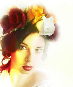 Flower Power, Crown, Flowers, Corona, Royal Icing Flowers, Crowns, Flower, Florals, Crown Royal Bags