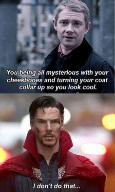 Doctor Strange/Sherlock memes will never get old :D