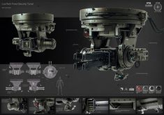 Star Citizen Low Tech Security Turret, Ken Fairclough on ArtStation at https://www.artstation.com/artwork/star-citizen-low-tech-security-turret