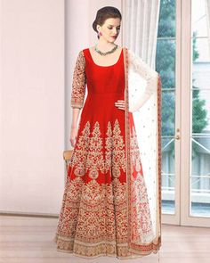Buy latest Anarkali salwar kameez from our different range of Salwar suits online. Mirraw offers best discounts and deals on shopping for Indian Anarkali Dresses. Indian Anarkali Dresses, White Anarkali, Salwar Suit Pattern, Salwar Kameez Online, Desi Clothes, Fashion Hub, Pretty Outfits, Pretty Clothes, Indian Designer Wear