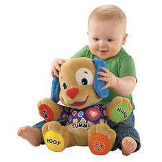 Fisher Dog Toys Baby Musical Plush Electronic Toys Dog Singing English Songs Learning&Education Love To Play Puppy Free Shipping US $25.68