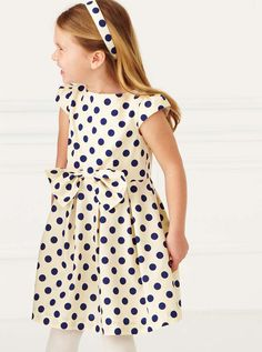 So adorable!  Love the polka dots  Kelly's Kids Party Dress