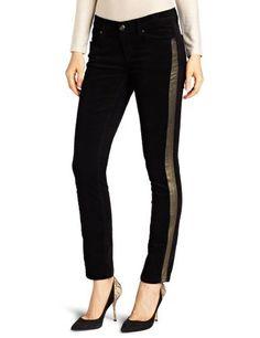 Isaac Mizrahi Women's Samantha Skinny With Tuxedo Stripe Isaac Mizrahi Jeans. $98.50. Gold foil tuxedo stripe. 98% Cotton/2% Spandex. Made in China. 12 inch leg opening. Machine Wash