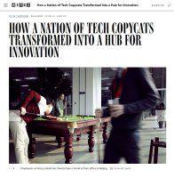 Zusammenfassung China: Vom Reich der Plagiatoren zur Innovations-Drehscheibe von Clive Thompson. Einst kopierten chinesische Firmen die Amerikaner. Heute übertrumpfen sie das Silicon Valley.