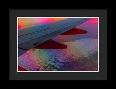 Airplane Framed Print featuring the photograph Rainbow Above The Clouds by Marnie Patchett