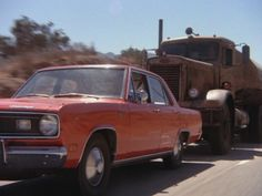 Duel Stars Dennis Weaver as a terrified motorist stalked on a remote and lonely road by the mostly unseen driver of a mysterious tanker truck. TV Movie Of The Week Big Rig Trucks, Semi Trucks, Old Trucks, Truck Tv, Classic Trucks, Classic Cars, Famous Movie Cars, Film Cars, Science Fiction