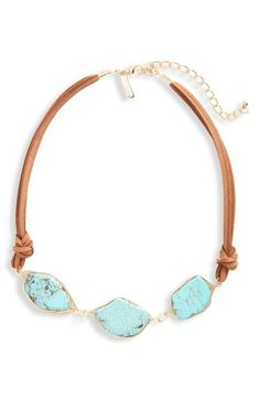 Panacea Turquoise & Suede Necklace available at #Nordstrom
