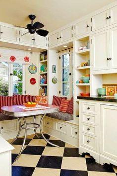 Vintage Sevenler için 21 En iyi Vintage Mutfak Modelleri