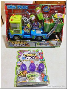Trash Pack {Antonio's happy being a big brother birthday truck}