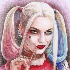 Awesome artwork of ya Harley ❤ artist unknown