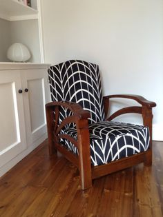 Stylish Art Deco Reclining Arm Chair by myoldchina on Etsy, £420.00