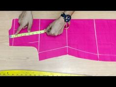 Collar Kurti, Suit, Cuttting Easy method step by step Chudidhar Neck Designs, Collar Designs, Tailoring Techniques, Sewing Techniques, Tailoring Classes, Pattern Drafting Tutorials, Sewing Tutorials, Sewing Ideas, Girls Dresses Sewing