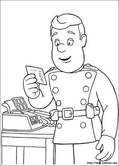 Fireman Sam Coloring Pages 15