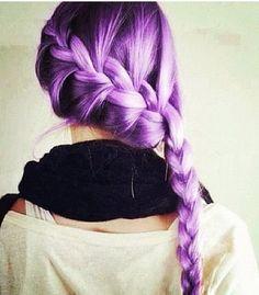 I love purple hair #ryghdcandy