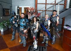 Gears of War Cosplayer Group visit to Epic Games for Gears of War: Judgment release