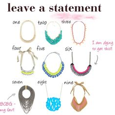 loving these statement necklaces from @jennifersingh